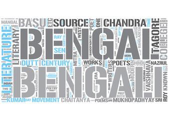 Bengali literature Word Cloud Concept