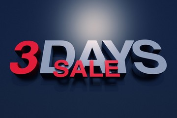3 Days Sale 3D