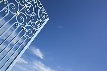Portail, entrée, fer forgé, parc, winery, château, palais