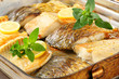 Oven roasted carp fillets