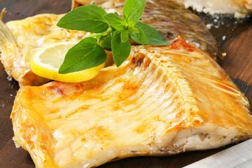 Oven roasted carp fillet