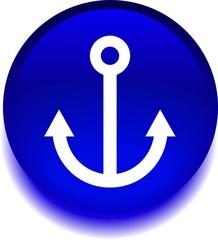 Круглый знак с изображением якоря