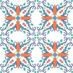 geometrical baroque pattern