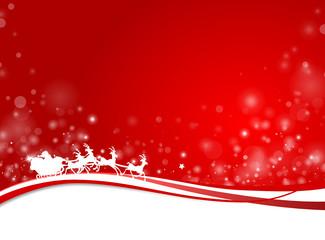 Weihnachtskarte Rentierschlitten