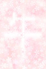 午 桜 背景 年賀状