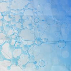 Abstract 3d  molecules medica