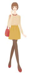 秋服の女性