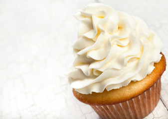 Gourmet vanilla cupcake