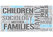 Sociology of the family Word Cloud Concept