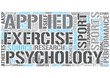 Sport psychology Word Cloud Concept