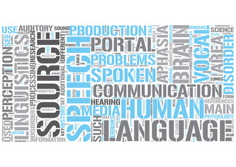 Speech communication Word Cloud Concept