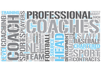 Sports coaching Word Cloud Concept