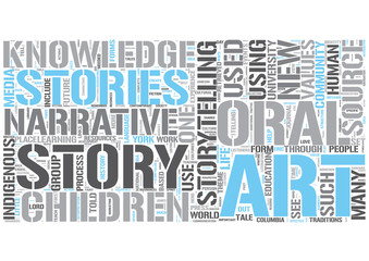 Storytelling Word Cloud Concept