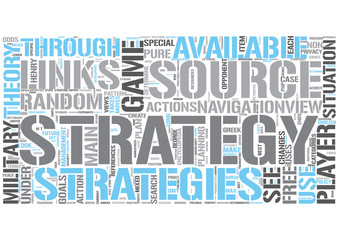 Strategy Word Cloud Concept
