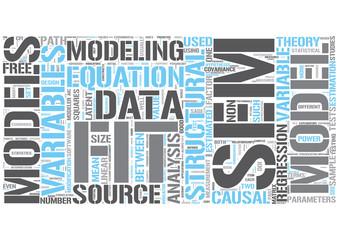 Structural equation model Word Cloud Concept