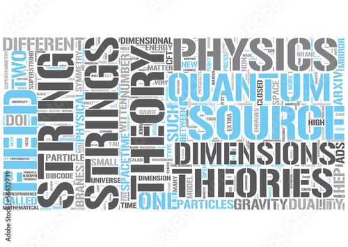String theory Word Cloud Concept