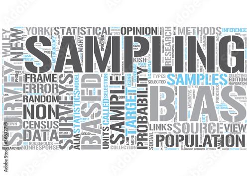 Survey Sampling Word Cloud Concept