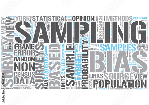 Survey Sampling Word Cloud Concept