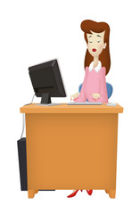 Woman Desktop