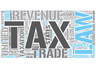 Tax law Word Cloud Concept