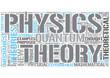 Theoretical physics Word Cloud Concept