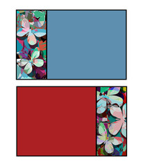 Butterfly cards isolated