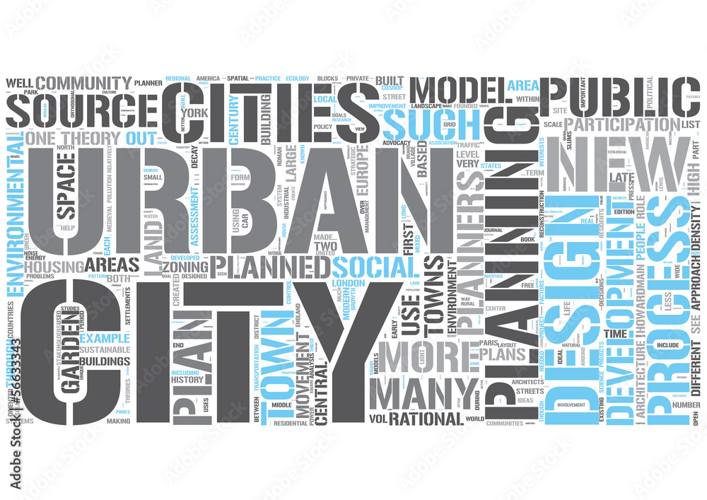 Urban Planning Word Cloud Concept Wall Sticker | Wall Stickers