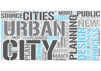 Urban planning Word Cloud Concept