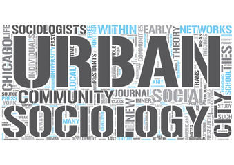 Urban sociology Word Cloud Concept