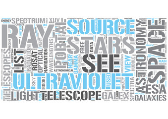 UV astronomy Word Cloud Concept