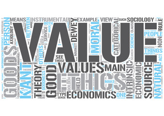 Value theory Word Cloud Concept
