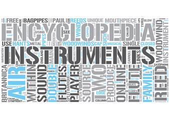 Woodwind instrument Word Cloud Concept