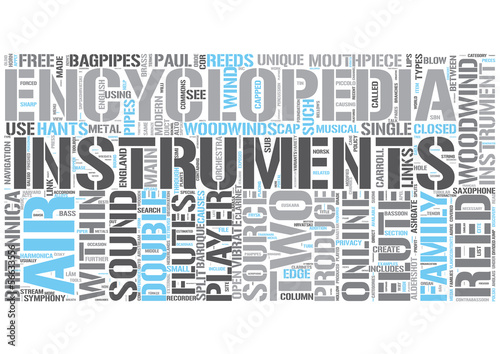 Woodwind instrument Word Cloud Concept