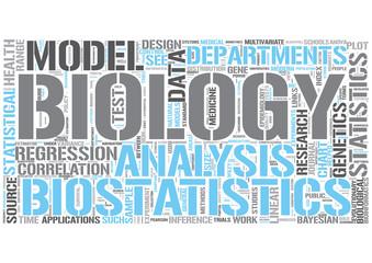 Biostatistics Word Cloud Concept