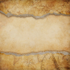 old torn map background