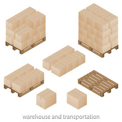 Boxes and pallets