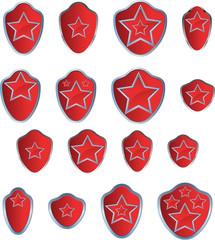 Red star emblem