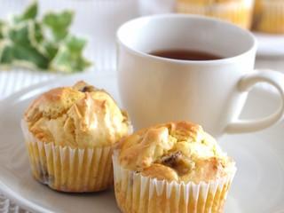 紅茶とバナナマフィン