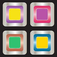 blank silver badge, vector format