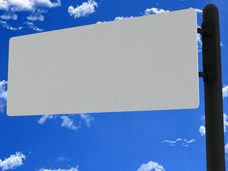 Blank metal road sign