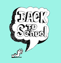 cartoon back to school kids education objects
