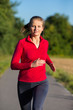 Urban leisure - woman running outdoor