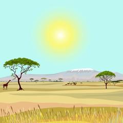 African Mountain idealistic landscape