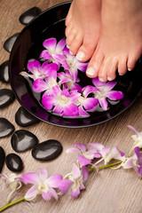 Feet aromatherapy