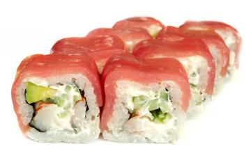 Uramaki. Philadelphia classic. Sushi-roll.