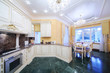 Kitchen with luxury furniture in classic style