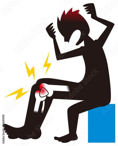 膝を痛めた男性