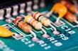 Leinwanddruck Bild - elektronische Bauteile #1
