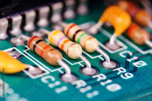 Leinwanddruck Bild elektronische Bauteile #1