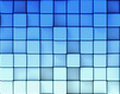 Abstract blue background made of cubes